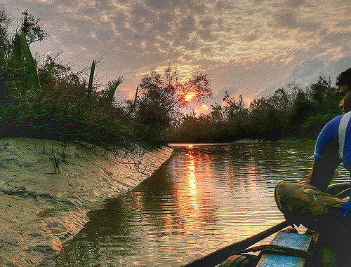 Sunset in Sunderbans