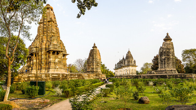 Some temples in the Khajuraho temple complex