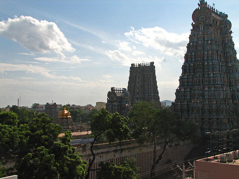 The tallest shrine of Meenakshi Temple