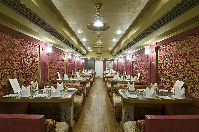 One of the Restaurants of the train