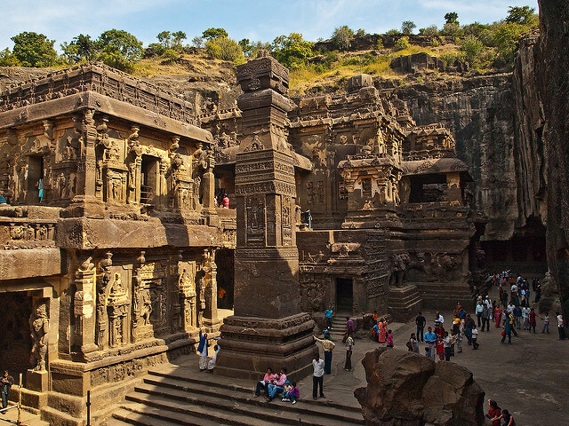The Kailash Temple in Ellora