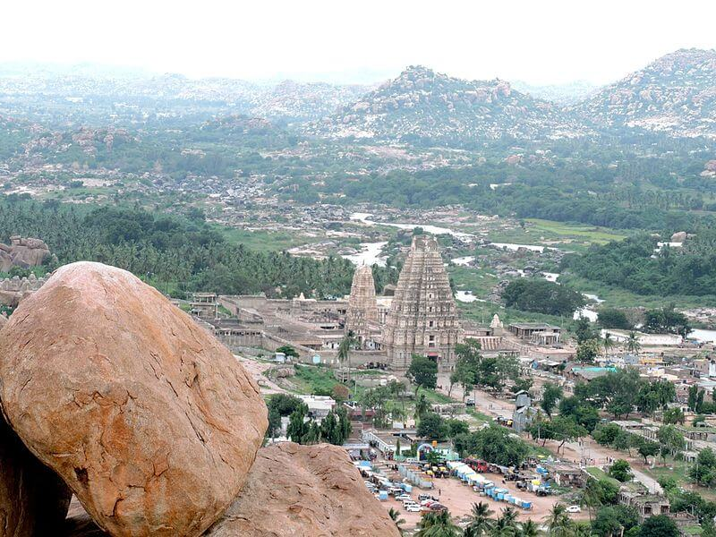 Hampi from the top of Matanga Hills
