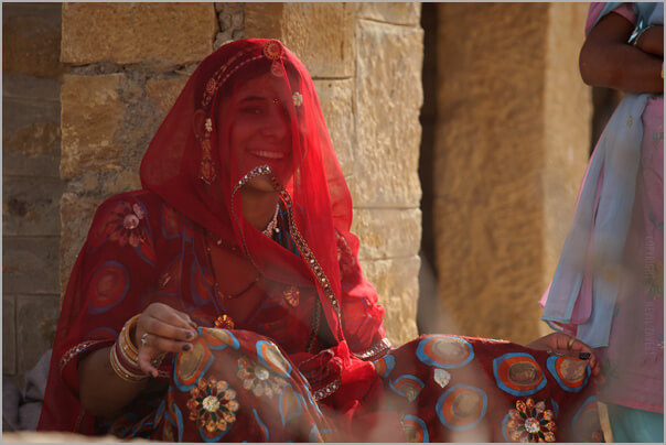 Traditional Rajasthani outfit worn by women