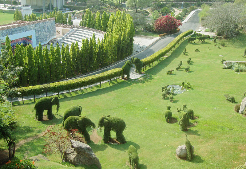 The beautiful garden of the Film City