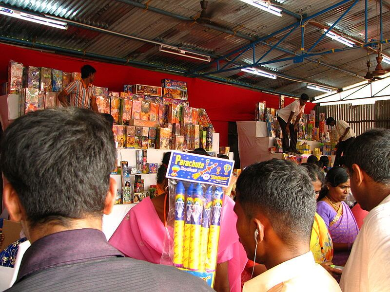 Firecracker sale during Diwali