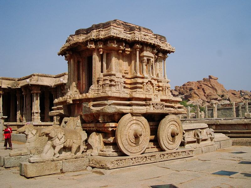The infamous stone chariot in the premises of Vitthala temple