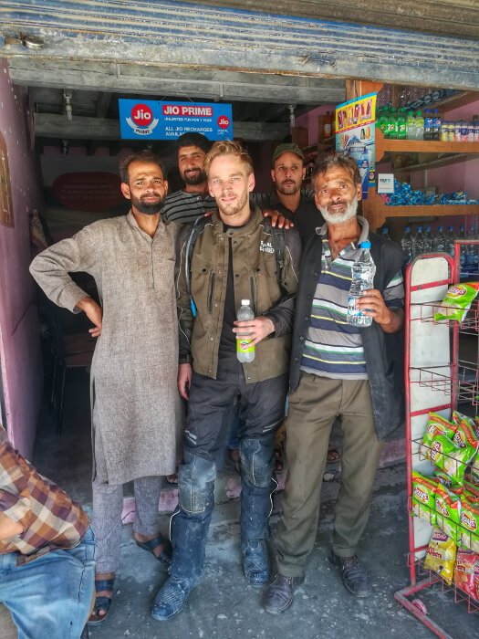 Me and some locals in Kashmir. Photo © Karl Rock, all rights reserved.