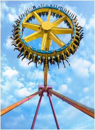 One of the rides in the park