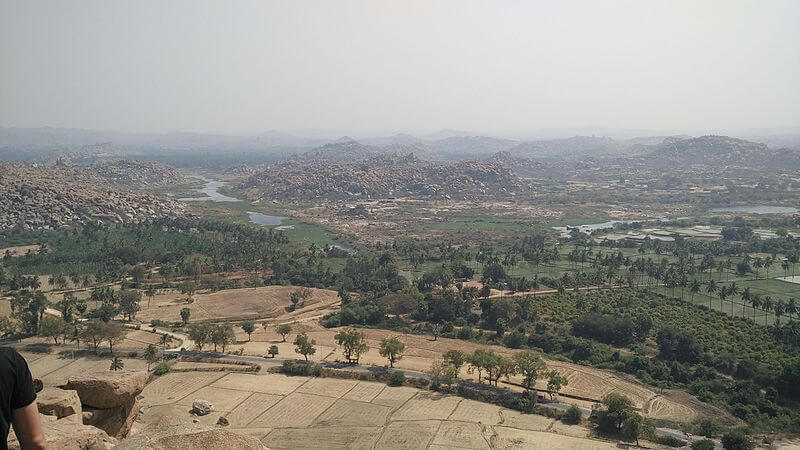 View of Hampi from Anjaneya Hill