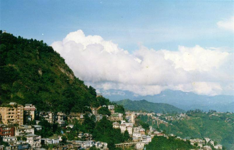 Postcard view of Aizawl