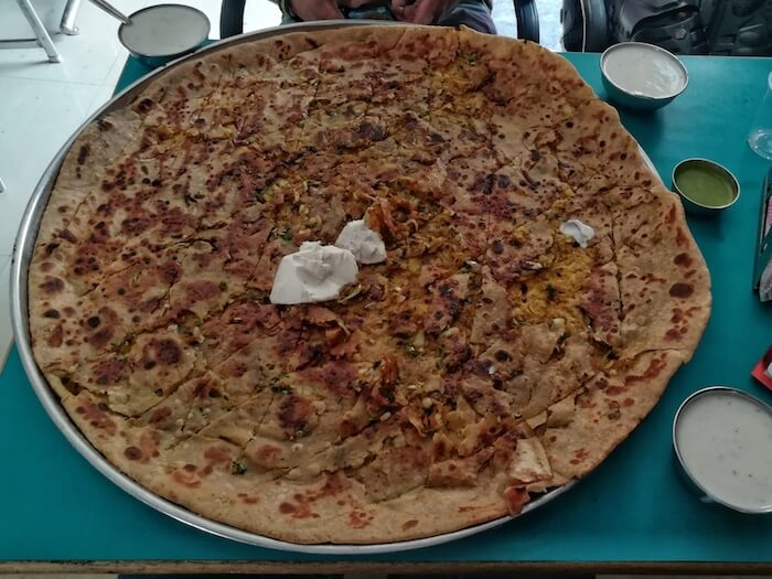 Behold, the largest paratha in the world! Photo © Karl Rock.