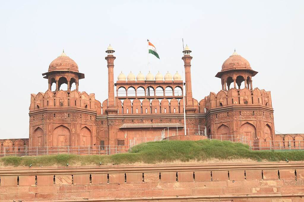 The Indian Flag on top of Red Fort