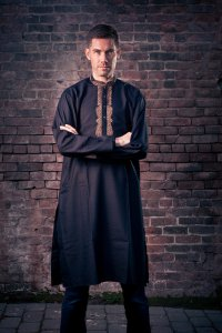 Traditional Indian and Pakistani clothing, kurta pajama. Photo by Donal Mountain.