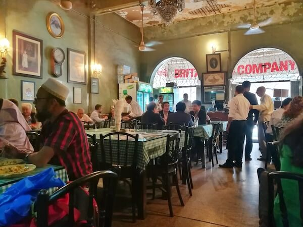 The rustic old-school Parsi cafe style of Britannia & Co. Photo © Karl Rock.