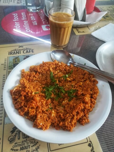 Chicken Kheema Gotala at the Irani Cafe Pune. Photo © Karl Rock.