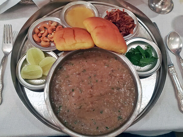 Haleem at The Park's Aish Restaurant, Hyderabad. Photo © Karl Rock.