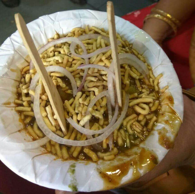 Chhole tikiya at Sawariya Chaat, Sarafa, Indore. Pic courtesy: Zomato