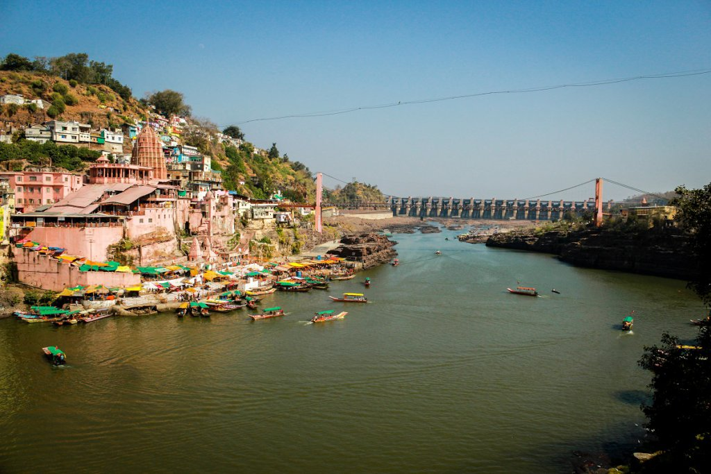 Omkareshwar, Narmada River. Pic courtesy: vkpriyesh