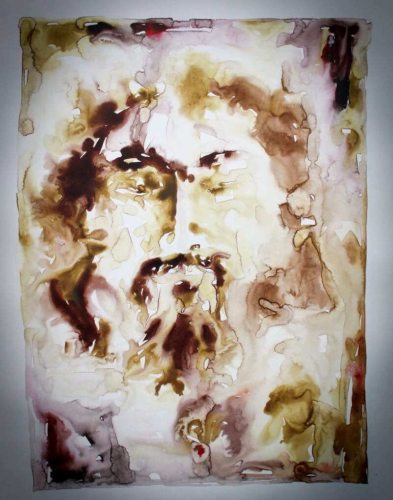 Christ. Painting by: Narendra Panchal