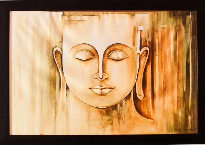 Blissful Buddha. Painting by: Narendra Panchal