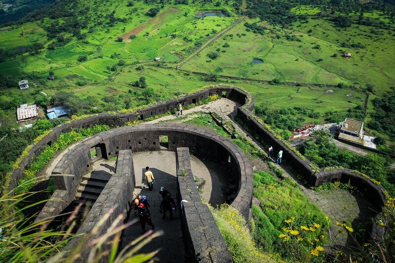 Lohagad Fort Stairs. Lohagad Scene. Photo by: vkpriyesh